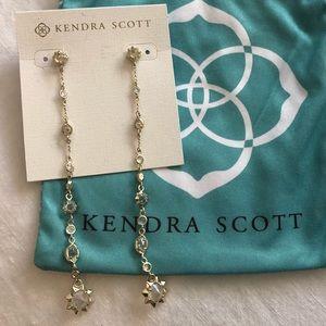 Kendra Scott Gold Linear Statement Earring